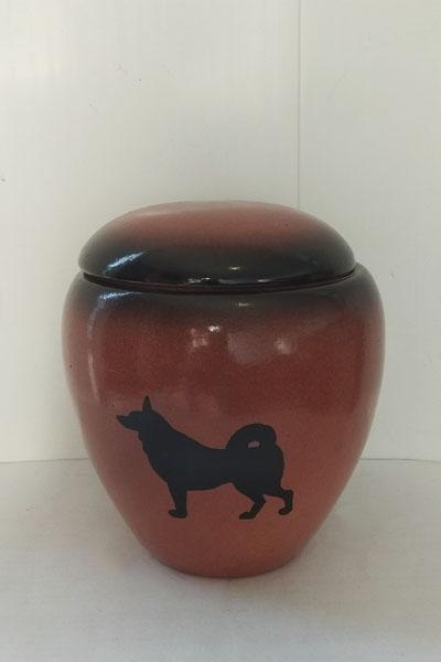 Керамическая урна для праха собаки