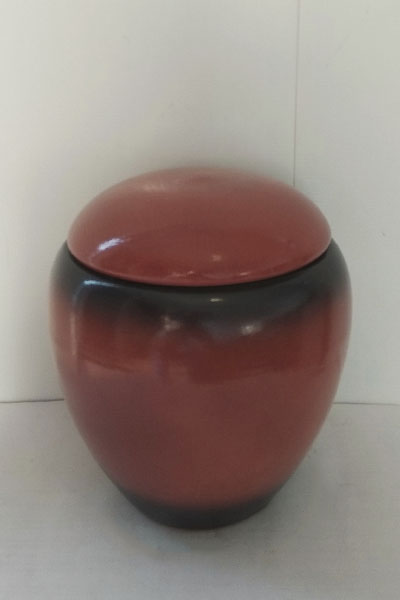 Красная урна для праха собаки от 0 до 30кг